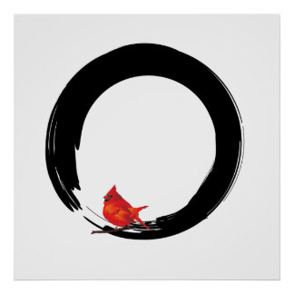 Poster Cercle de zen avec le cardinal de Noël