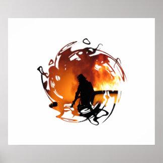 Poster Cercle des flammes