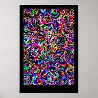 Poster Cercles au néon