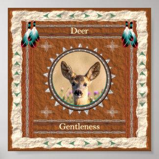 Poster Cerfs communs - copie d'affiche de gentillesse