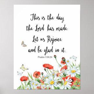 Poster C'est le jour où le seigneur a fait le psaume
