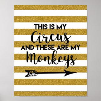 Poster C'est mon affiche de cirque