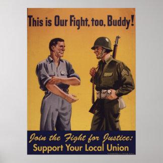 Poster C'est notre combat, aussi, ami ! Affiche de