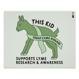 Poster Cet enfant combat l'affiche de la maladie de Lyme