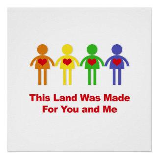 Poster Cette terre a été faite pour vous et moi