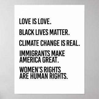 Poster Chacun mérite les droits de l'homme et le