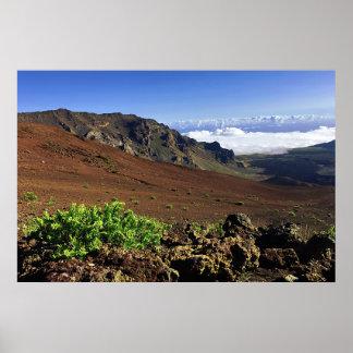 Poster Chaîne de montagne hawaïenne