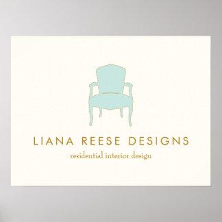 Poster Chaise de Français de design d'intérieur