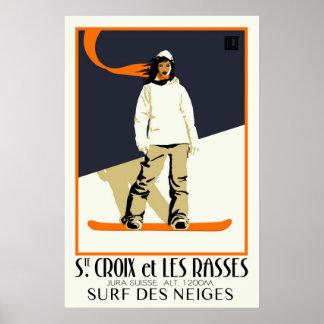 Poster Chambre. Croix et Les Rasses