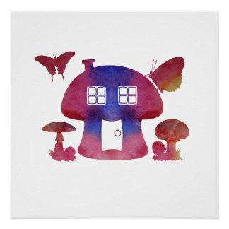 Poster Chambre de champignon