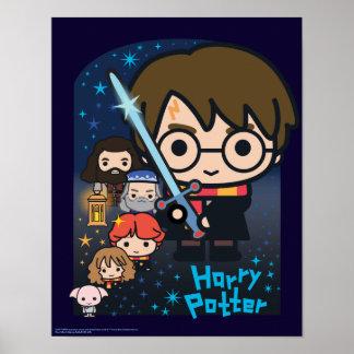 Poster Chambre de Harry Potter de bande dessinée des