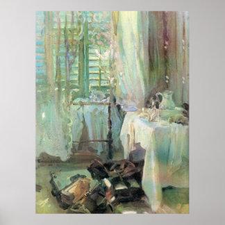 Poster Chambre d'hôtel par Sargent, beaux-arts victoriens