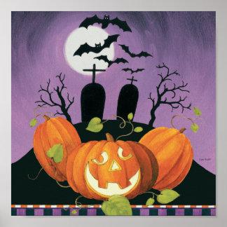 Poster Chambre hantée par Halloween éffrayante