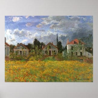 Poster Chambres à Argenteuil par Claude Monet, art