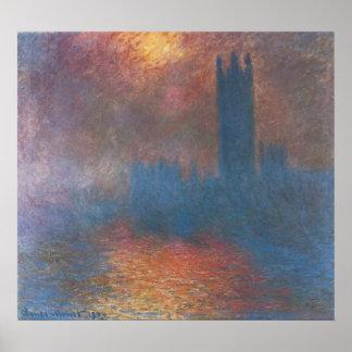 Poster Chambres du Parlement, Londres par Claude Monet