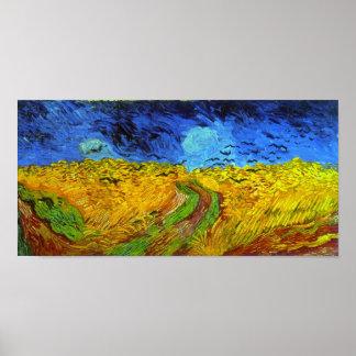 Poster Champ de blé avec des beaux-arts de Van Gogh de