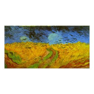 Poster Champ de blé de Van Gogh avec des corneilles,