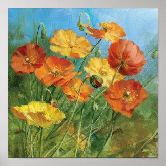Poster Champ floral d'été