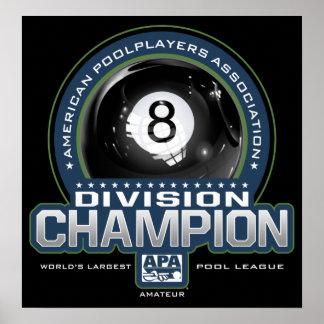 Poster Champions de Division de boule d'APA 8