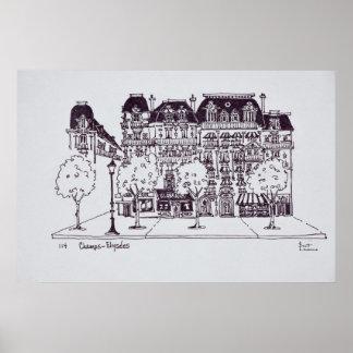 Poster Champions Elysees de l'architecture | de Haussmann