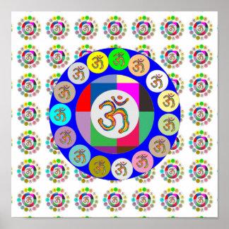 Poster Chant 108 : Motif d'OmMantra d'INCANTATION d'OM