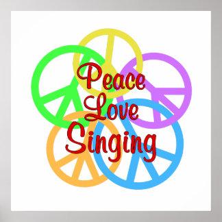 Poster Chant d'amour de paix