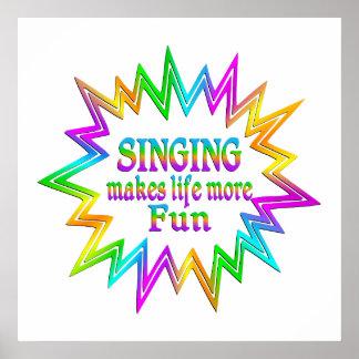 Poster Chant de plus d'amusement