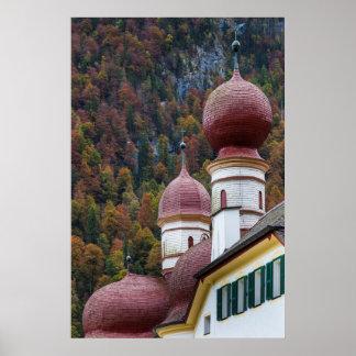 Poster Chapelle de St Bartholoma, Bavière