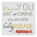 Poster Chaque fois que vous mangez l'affiche d'expression