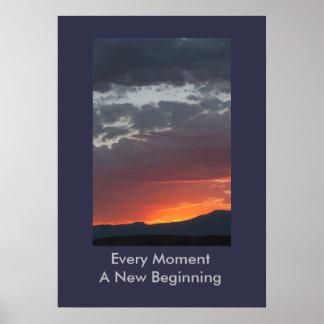 Poster Chaque moment une nouvelle affiche de début