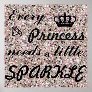Poster Chaque princesse Needs une peu d'affiche