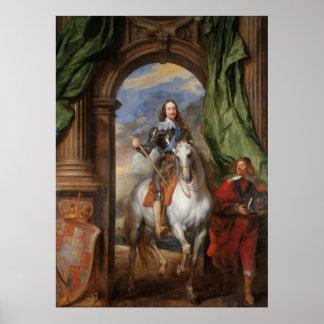 Poster Charles I avec M. de St Antoine - Anthony van Dyck
