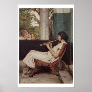 Poster Charmes de Hath de musique d'Alma-Tadema  
