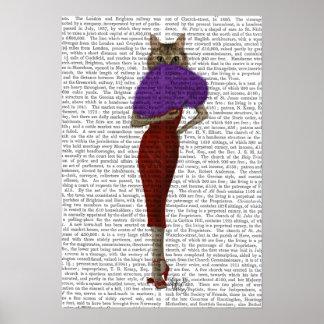 Poster Chat dans la robe rouge