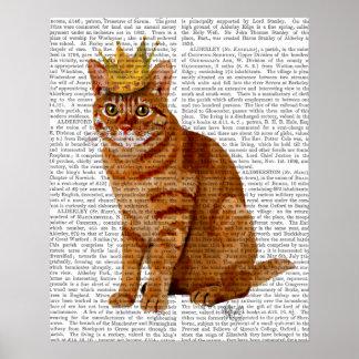 Poster Chat de gingembre avec la couronne pleine