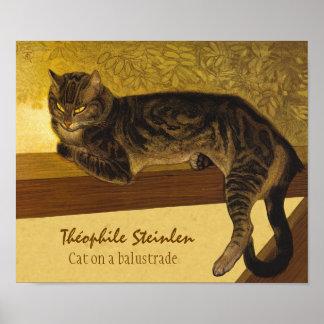 Poster Chat de Steinlen sur les chats grincheux de la