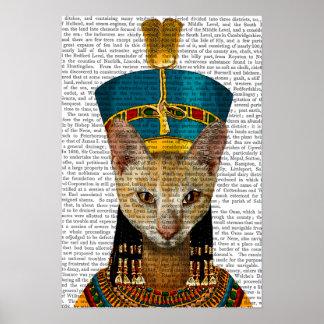 Poster Chat égyptien de la Reine