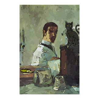Poster Chat noir de quartier français