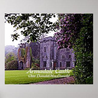 Poster Château d'Armadale - clan Donald/MacDonald