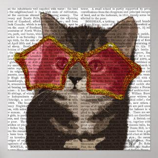 Poster Chaton dans des lunettes de soleil d'étoile