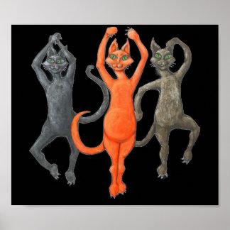 Poster Chats de danse