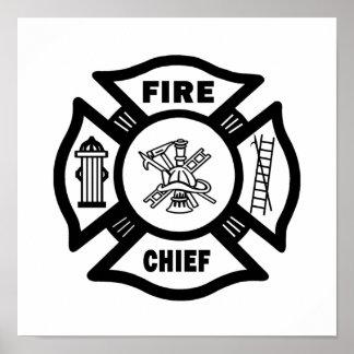 Poster Chef des pompiers