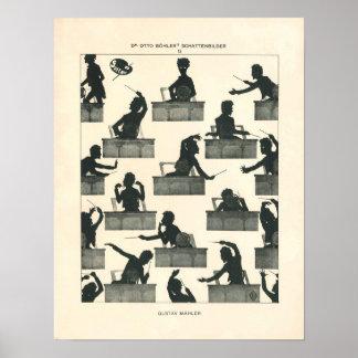 Poster Chef d'orchestre de musique classique - Mahler