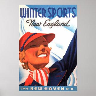 Poster Chemin de fer de la Nouvelle Angleterre New Haven
