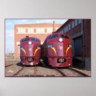 Poster Chemin de fer E-8a, s (JTFS) 5809 et 5711 de la
