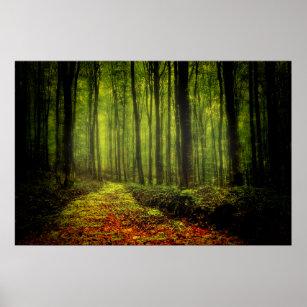 Poster Chemin en bois