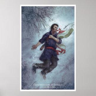 Poster Chénier tombe au combat