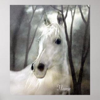 Poster Cheval blanc