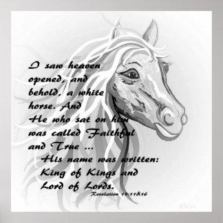 Poster Cheval blanc d'un roi