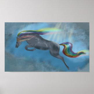 Poster Cheval d'arc-en-ciel